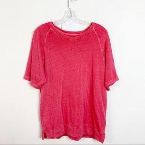 SUNDRY | Short Sleeve Pullover Knit Top a Sz. L